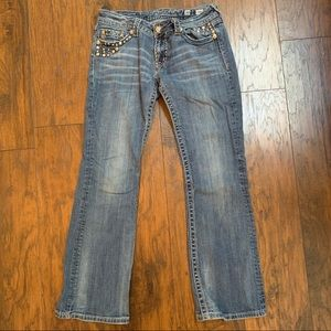 Miss Me Jeans in Size 30 with Bling on all pockets